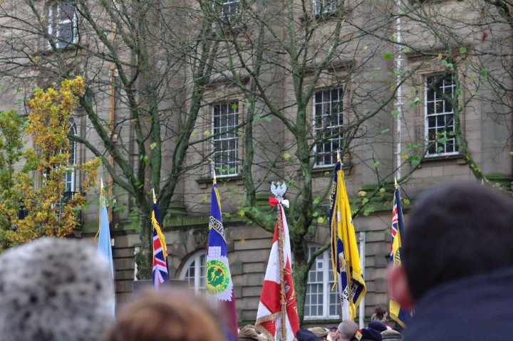 The flags of the Preston units Pic: Henna Sheth