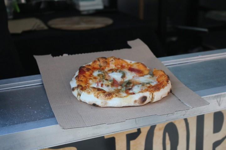Chorizo and jalapeno pizza