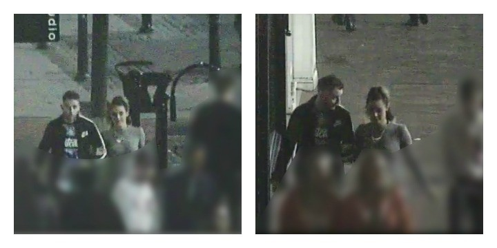 Police would like to speak to the man and woman pictured
