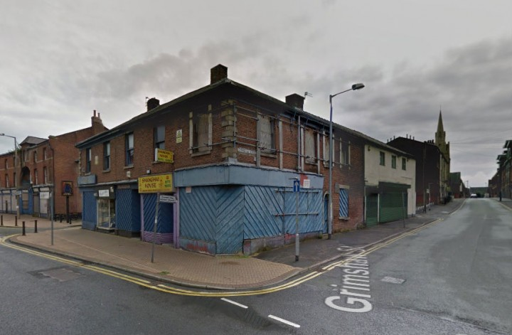 Buildings on corner of Church Street and Grimshaw Street could be torn down Pic: Google