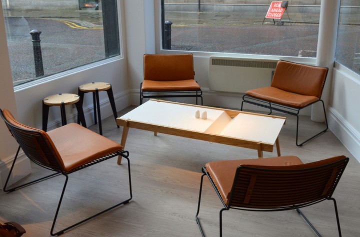 Seating area in Ham and Jam