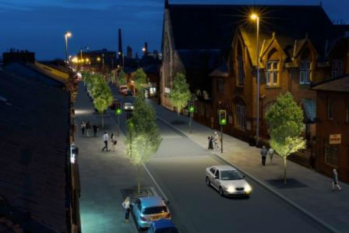 How the revamped New Hall Lane may look at night
