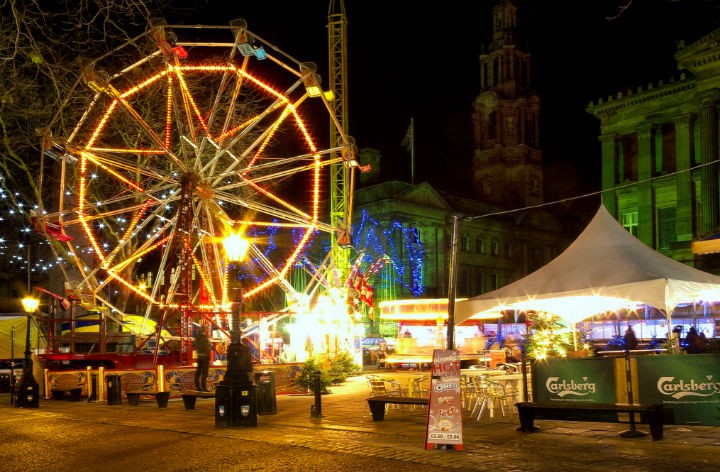 Christmas Winter Wonderland in previous years on the Flag Market Pic: Keith Sergeant