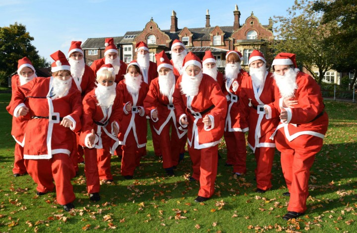 Doctors and nurses at St Catherine's get ready for santa run