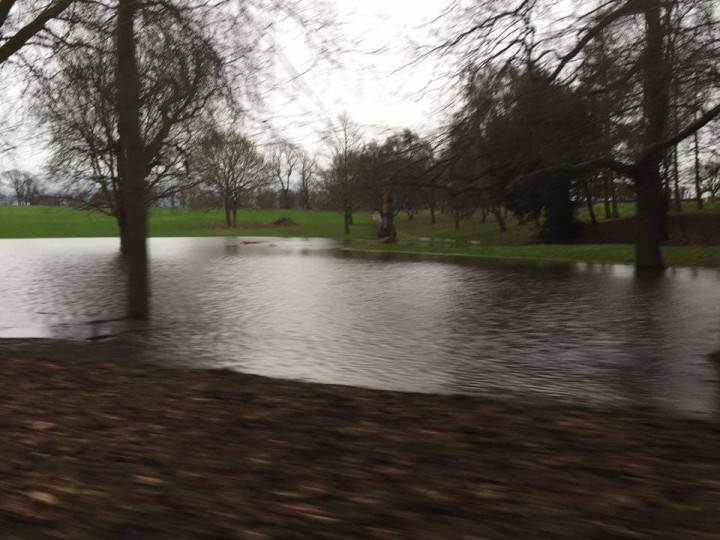 Moor Park's new temporary Serpentine Lake.... Pic: Lucy-Jayne Ashcroft
