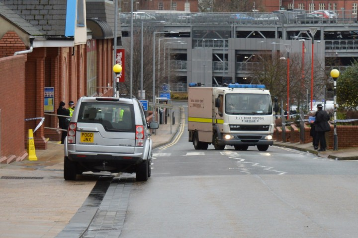 Bomb squad in Butler Street in Preston on Thursday Pic: Tony Worrall