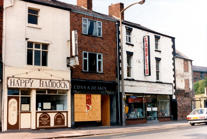 53, 54 (Edna A. Deakin) & 55 Church Street, north side, Preston June 1988