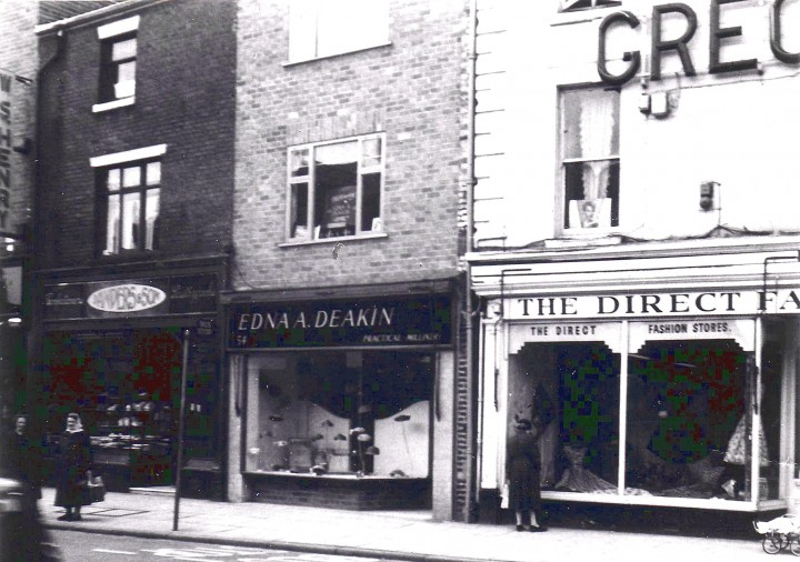 Edna A. Deakin Milliner 54 Church Street Preston