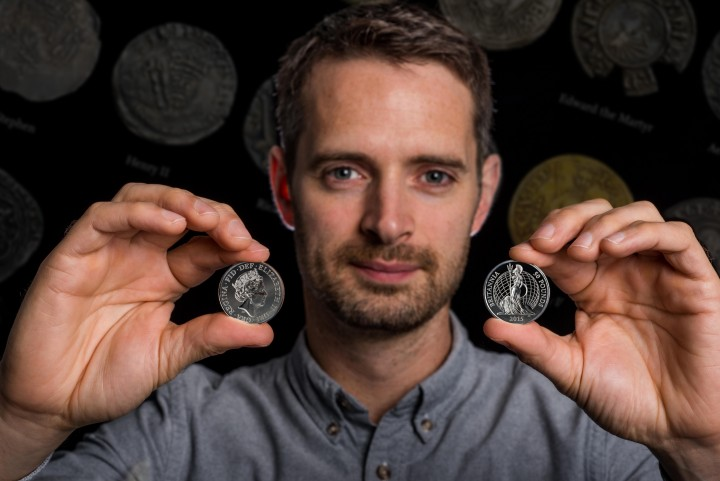 Jody with the new £50 commemorative coin