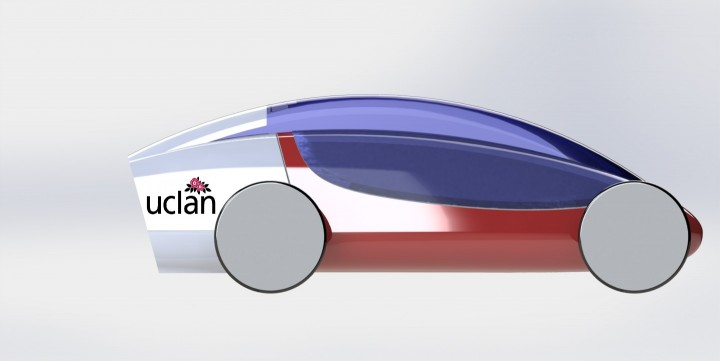 The UCLan team's new sleigh design