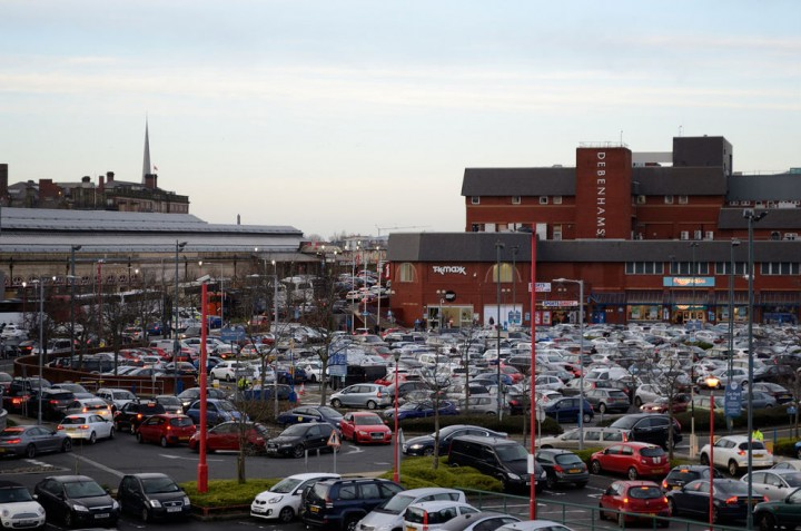 Drivers trying to leave the Fishergate car park Pic: Kate Dickens