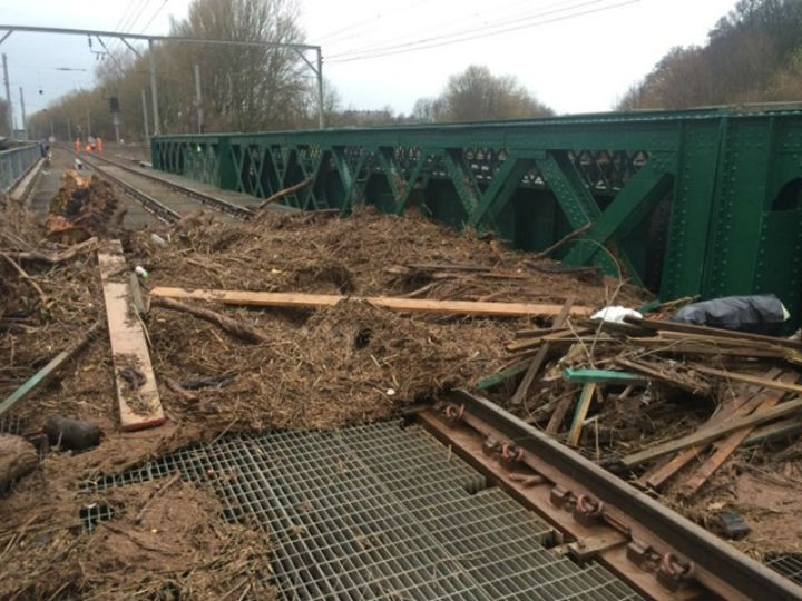 Damage caused to the West Coast Mainline Pic: Network Rail