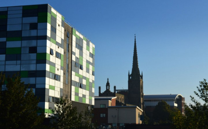 The Media Factory and St Peters Arts Centre on the Preston campus Pic: Tony Worrall