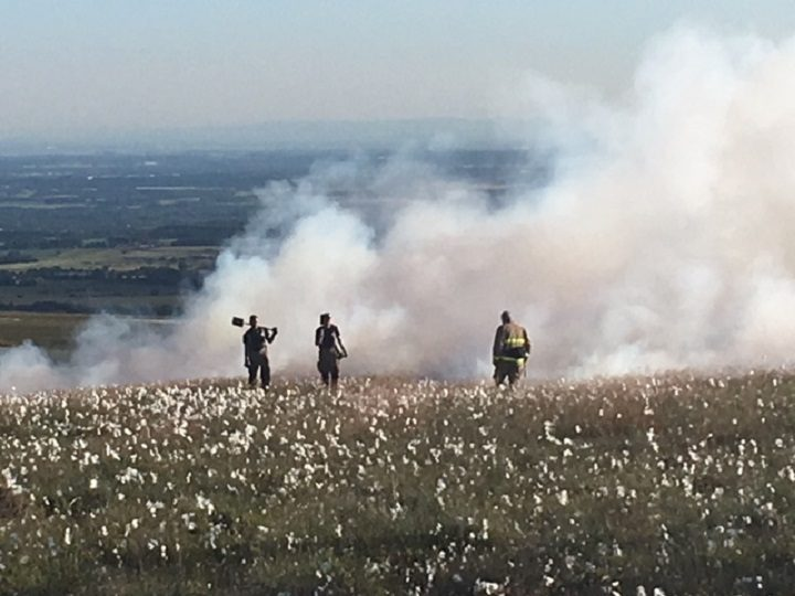 Firefighters on the moors at Rivington Pic: Lancashire Fire and Rescue Service
