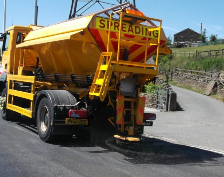 One of the gritter fleet out on the road network