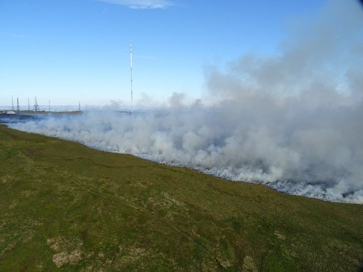 Another aerial view showijng the scale of the fire Pic: Lancashire Fire and Rescue Service